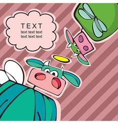 cartoon cows vector image
