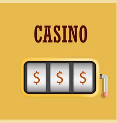 casino machine slot concept background realistic vector image