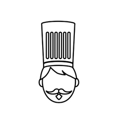 Chef hat profile vector image