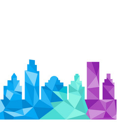City buildings silhouette polygonal style vector