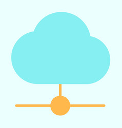 cloud technology line icon minimal pictogram vector image