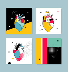 Collection covers templates in pop style vector