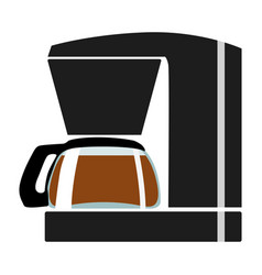 Color coffee maker vector