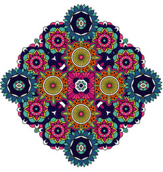 Colored mandala floral decorative element vector