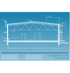 Construction drawings engineering vector