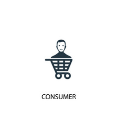 consumer icon simple element vector image