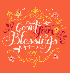 Count your blessings vector