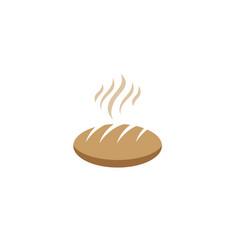 creative bread logo vector image