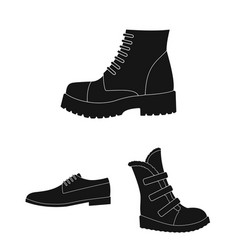 Different shoes black icons in set collection for vector