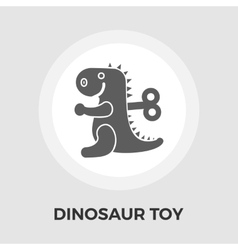 Dinosaur toy flat icon vector image