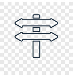 Directions concept linear icon isolated on vector
