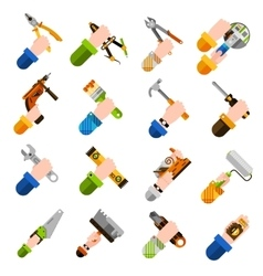 Diy Hands Icons vector image