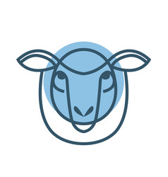 drawing head of sheep vector image vector image