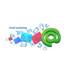 e-marketing advertising campaign email marketing vector image