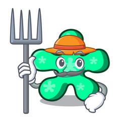 Farmer free form character cartoon vector