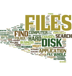 find files on the hard disk faster text vector image