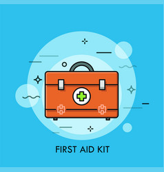 First aid kit or bag with medicines vector