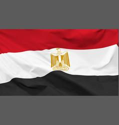 flag arab republic egypt vector image