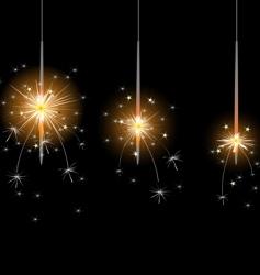Flame sparkler vector