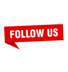 Follow us vector