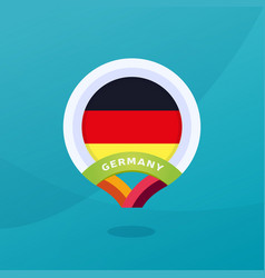germany flag map location pin european football vector image