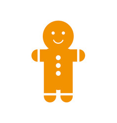 gingerbread man with smile and buttons on belly vector image