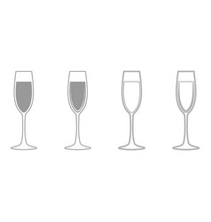 glass of champagne it is icon vector image
