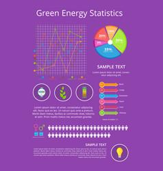 Green energy statistics poster vector