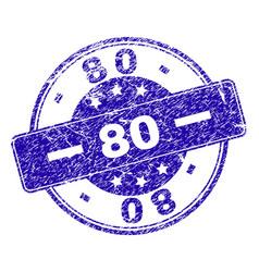 grunge textured 80 stamp seal vector image