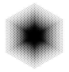 Halftone design elements hexagon vector