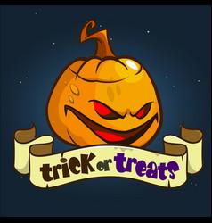Halloween design with pumpkin vector