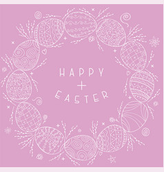 happy easter background with hand drawn vector image