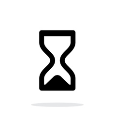 Hourglass ended icon on white background vector image