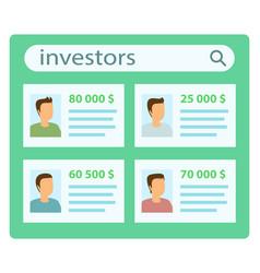 Investor list presentation poster vector