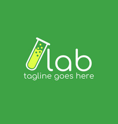 lab logo design vector image