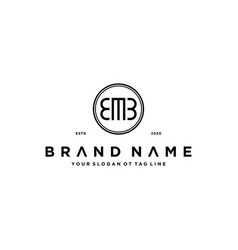 Letter emb logo design concept vector