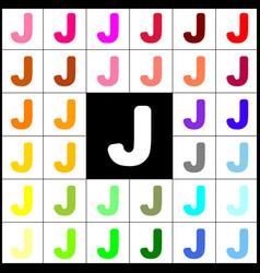 Letter j sign design template element vector