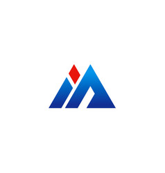 letter m company business logo vector image