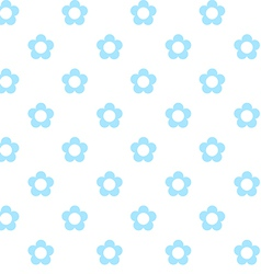 Light blue flowers seamless pattern fabric texture vector