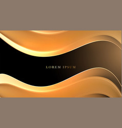 luxury background with golden lines and shadow vector image