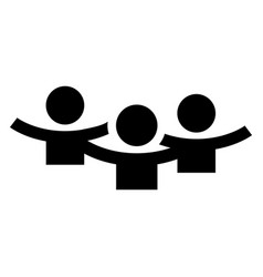 meeting people icon simple style vector image