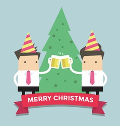 Merry Chirstmas businessmen vector image