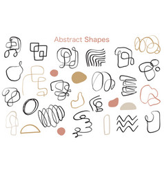 minimal abstract organic shapes collection vector image