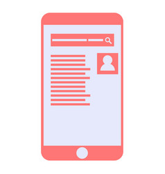 mobile phone with search page vector image