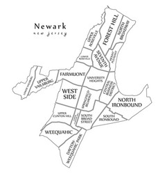 modern city map - newark new jersey city of the vector image