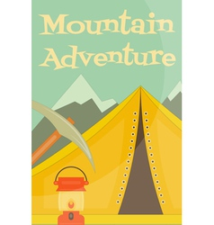 mountains equipment vector image