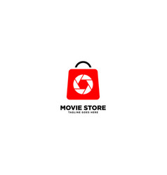 Movie store simple logo template vector