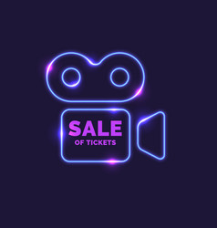 neon poster sale tickets modern graphics vector image