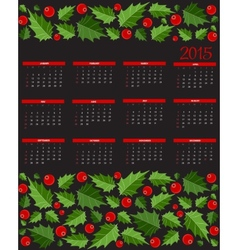 New Year 2015 Calendar vector image