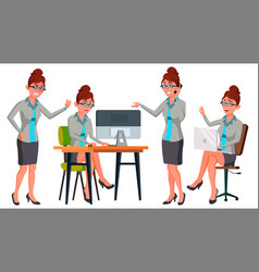 Office worker woman secretary accountant vector